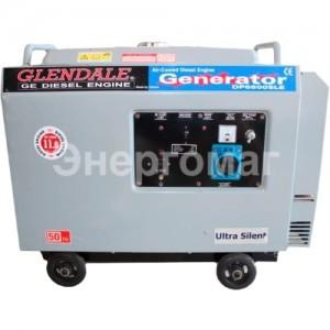Дизельный генератор GLENDALE DP6500SLE/1 в кожухе с автоматикой