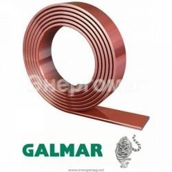 Омедненная стальная полоса Galmar, плоский провод 25х4 мм Galmar в бухте