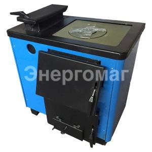 Котел дровяной  Огонек КОТВ-12,5П 12 кВт с варочной поверхностью