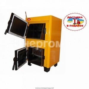 Котел угольно-дровяной Огонек КОТВ-14 14 кВт для дома до 140 кв.м
