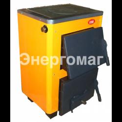 Котел твердотопливный  Огонек КОТВ-12П 12 кВт с плитой для приготовления пищи