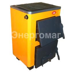 Дровяной котел Огонек КОТВ-16П 16 кВт  с плитой для приготовления пищи