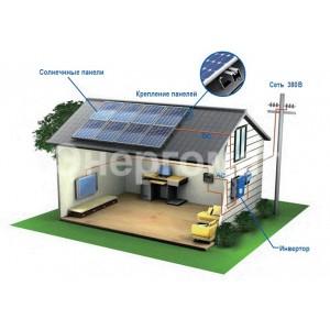 Солнечные станции сетевые для дома,10 кВт,380 В