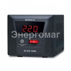 Стабилизатор напряжения REAL-EL STAB-500,мощность 400 Вт